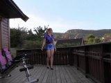 Amateurvideo Long Legs in blue Satin from sexyengel