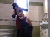 Amateurvideo Mein Leder Sklave Mädchen, Teil: Haare rasieren von bondageangel