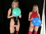 Amateurvideo Luftballons platzen lassen mit Stiefel von sexyalina