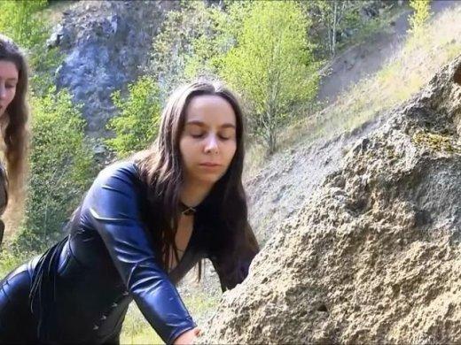 Outdoorhiebe im Steinbruch