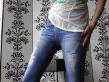 Amateurvideo In die Jeans-Leggings gepisst! from JuicyJulie